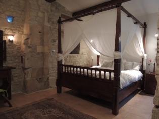 The villa's bedroom