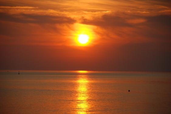 Sunset at Meschers beach