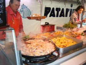 Seafood on sale at Saintes market