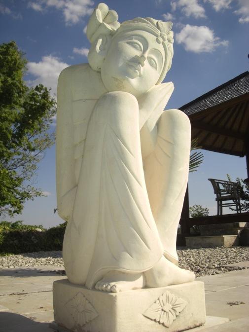 Poolside statue